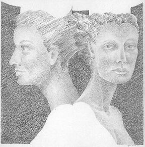 Sketches for the Vens Sculptures, pencil on paper, 1994